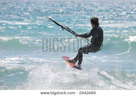 Kite-Surfer In Action