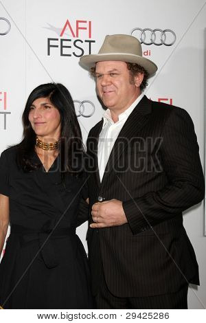 LOS ANGELES - NOV 5:  Alison Dickey, John C. Reilly arrives at the AFI FEST 2011 Gala Screening of