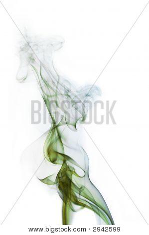 Green And Blue Cigarette Smoke