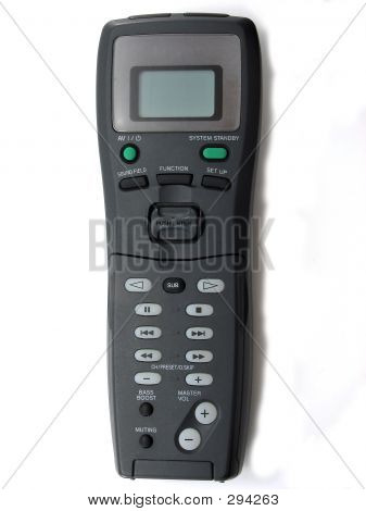 Black Textured Home Theater Remote Control