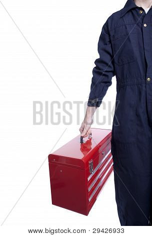 Handyman With A Toolbox