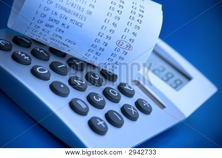 Calculator And Cash Register Receipt