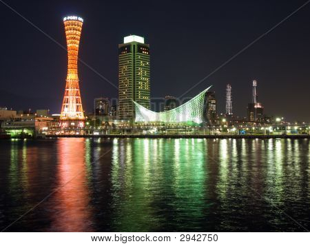 Kobe Port Night Scene