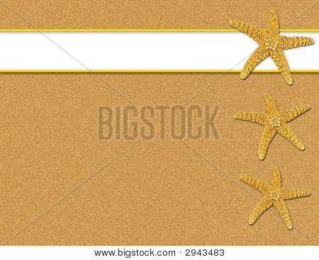 Sand And Starfish Background