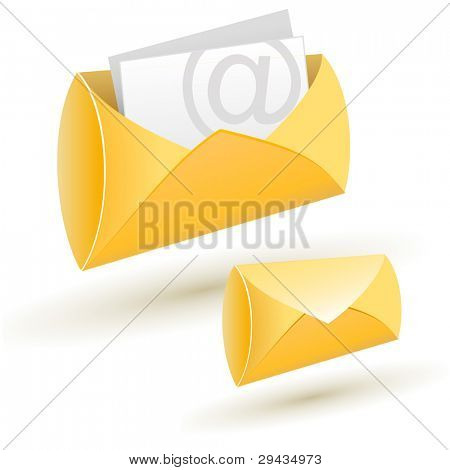 Editable illustration of mail icons.