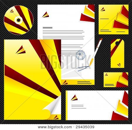 Editable corporate Identity template 5. Easy to edit vector illustration.