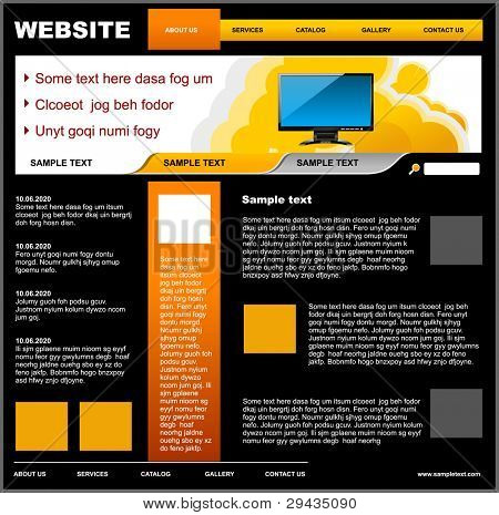 Website template 02. Easy to edit vector illustration.