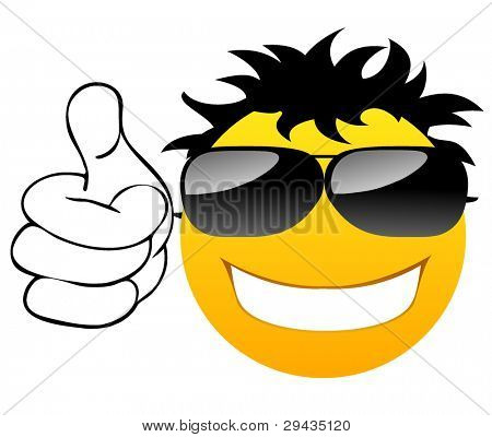 Thumbs up Smile with glasses.