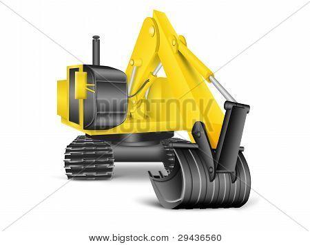 Ilustração da escavadeira