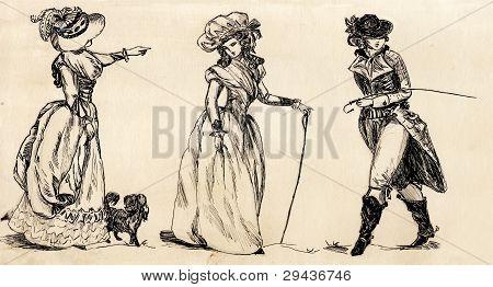 homem de fantasia e mulher do século 19. parte 2