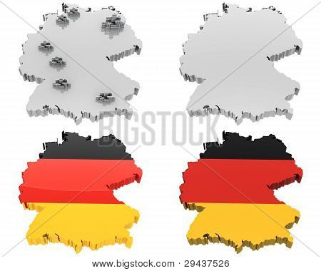 Four View Map, Germany