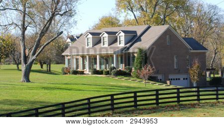 Elegant Rural Home Resting On A Large Lot