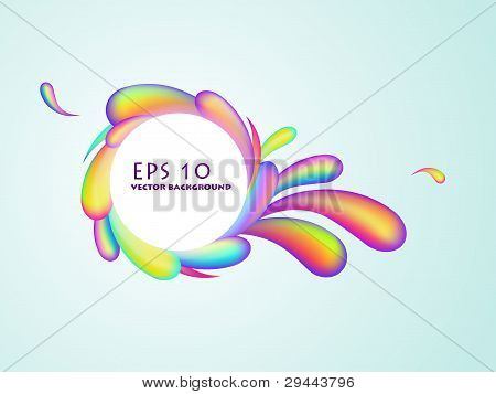 Abstract Rainbow Swirl Background