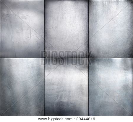 Set metal plate steel background. Hi res