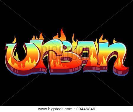 Graffiti Urban Art Vector Illustration