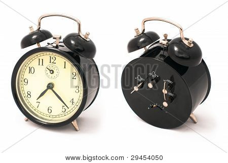 Old Black Alarm Clock