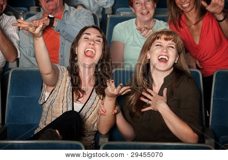 Laughing Women In Audience