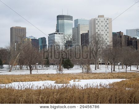Winter skyline