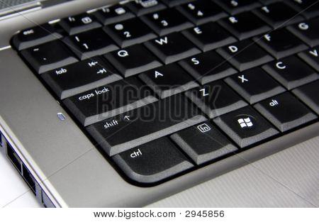 Laptop Black Keybord Closeup