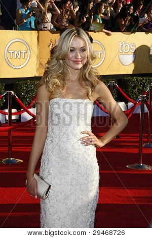 LOS ANGELES, CA - JAN 29: Katrina Bowden at the 18th annual Screen Actor Guild Awards at the Shrine Auditorium on January 29, 2012 in Los Angeles, California