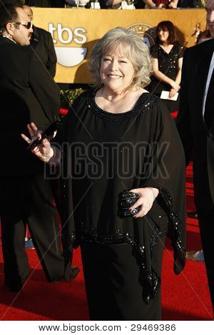 LOS ANGELES, CA - JAN 29: Kathy Bates at the 18th annual Screen Actor Guild Awards at the Shrine Auditorium on January 29, 2012 in Los Angeles, California