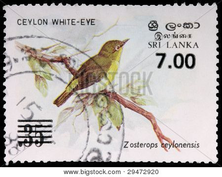 A 7-rupee Stamp Printed In Sri Lanka
