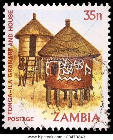 35 Ngwee Stempel gedruckt in Sambia