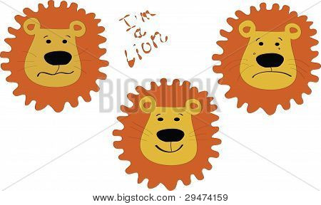 Lion  With A Different Mood