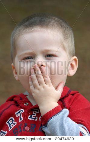 Baby Boy Stiffles Yawn
