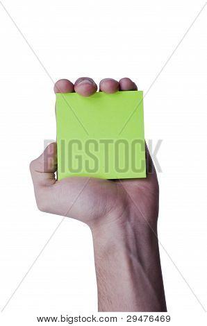 Green memo paper