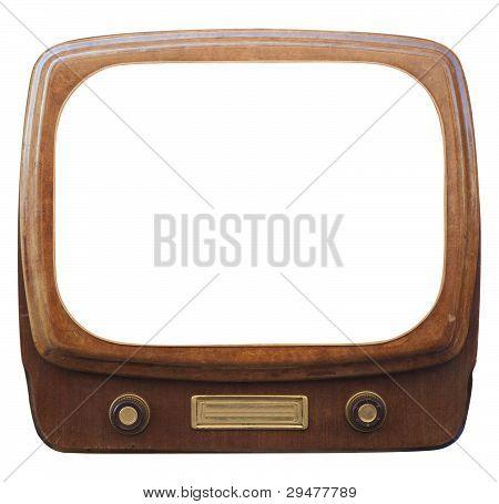 Tv antiga enquadrado
