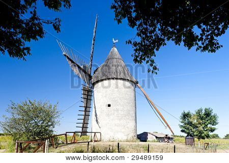 windmill, Vensac, Aquitaine, France