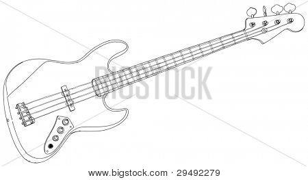 electric guitar. Bitmap copy my vector