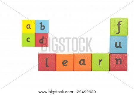 Childrens Alphabet Blocks.