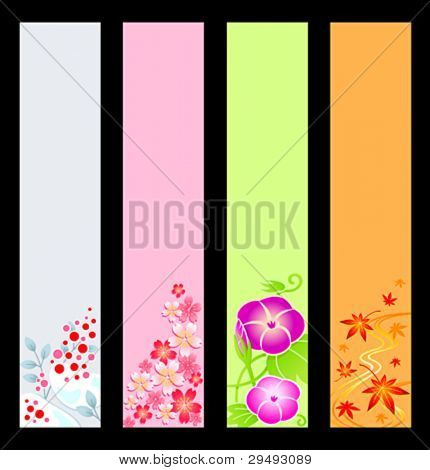 Japanese season banner backgrounds. Base size is 120x600.