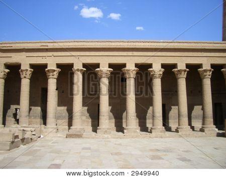 Temple Columns At Philae, Egypt