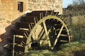 Old Mill Wheel At Preston Mill, East Linton