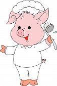 Piglet Cook poster