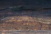 Pattern Of Old Black And Brown Oak Wood For Background Or Old Wooden Texture. Old Oak For Vintage Ta poster