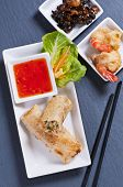 picture of lumpia  - spring rolls with tempura and sweet - JPG