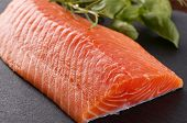 foto of salmon steak  - Fresh salmon fillet - JPG