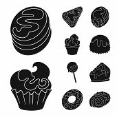 Vector Illustration Of Sweetness And Product Symbol. Set Of Sweetness And Sweet Vector Icon For Stoc poster