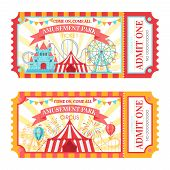 Amusement Park Ticket. Admit One Circus Admission Tickets, Family Park Attractions Festival And Amus poster