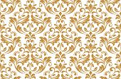 Wallpaper In The Style Of Baroque. Seamless Vector Background. White And Gold Floral Ornament. Graph poster