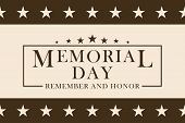 Memorial Day Background With Stars And Stripes. Black And White Template For Memorial Day Design. Me poster