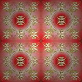 Fantasy Nice Illustration. Classic Seamless Vector Pattern. Damask Orient Ornament. Orient Neutral A poster