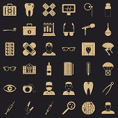 Clever Doctor Icons Set. Simple Style Of 36 Clever Doctor Vector Icons For Web For Any Design poster