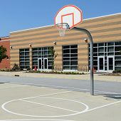 School yard basketball court