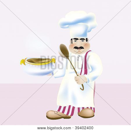 Vector skilled chefs