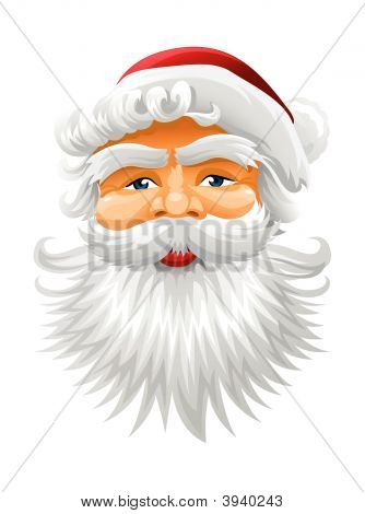 Vector Face Of Santa Claus